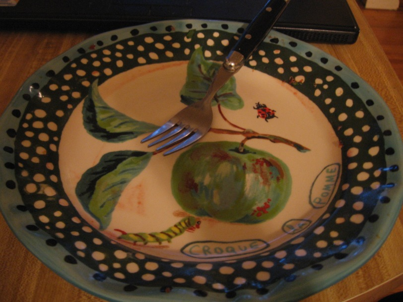 Someone was hungry- Nathalie Lete plate from anthropologie