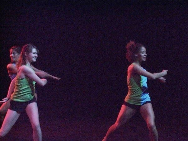 Here I am with Kara and Brittany in one of Chelsea's choreographic creations