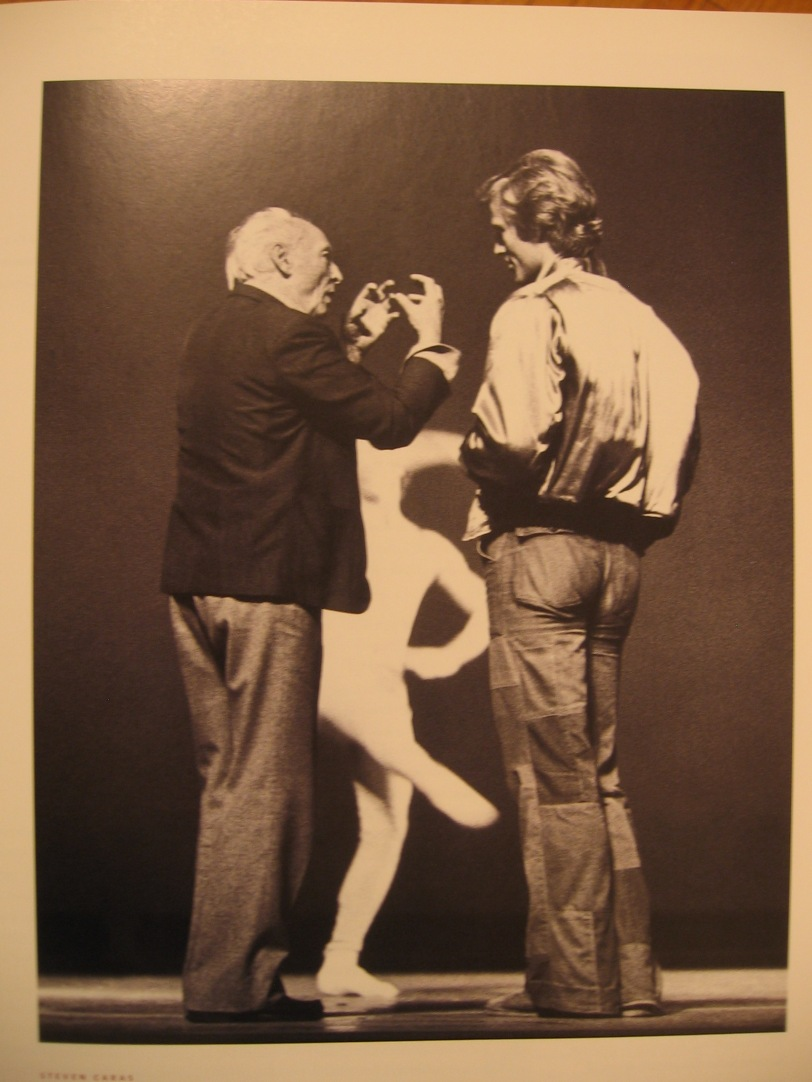 CAPTION THIS! what do you think Jerome Robbins is saying to Peter Martins in this picture? (leave your idea as a comment)