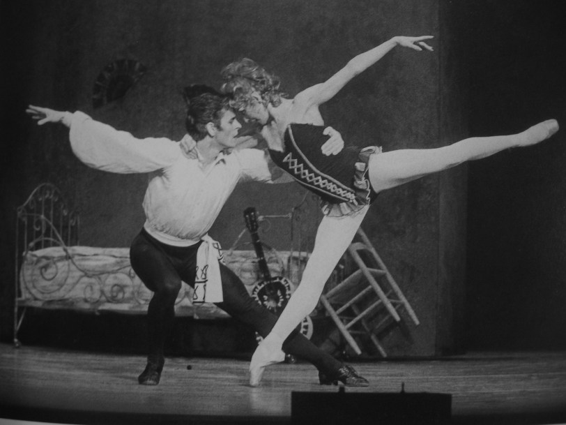 haha, trick question! That's Natalia Makarova again with a much better foot (and Baryshnikov) in 'Carmen'. She clearly wasn't working very hard in the other picture.