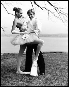 Baryshnikov with Uma Thurmansky