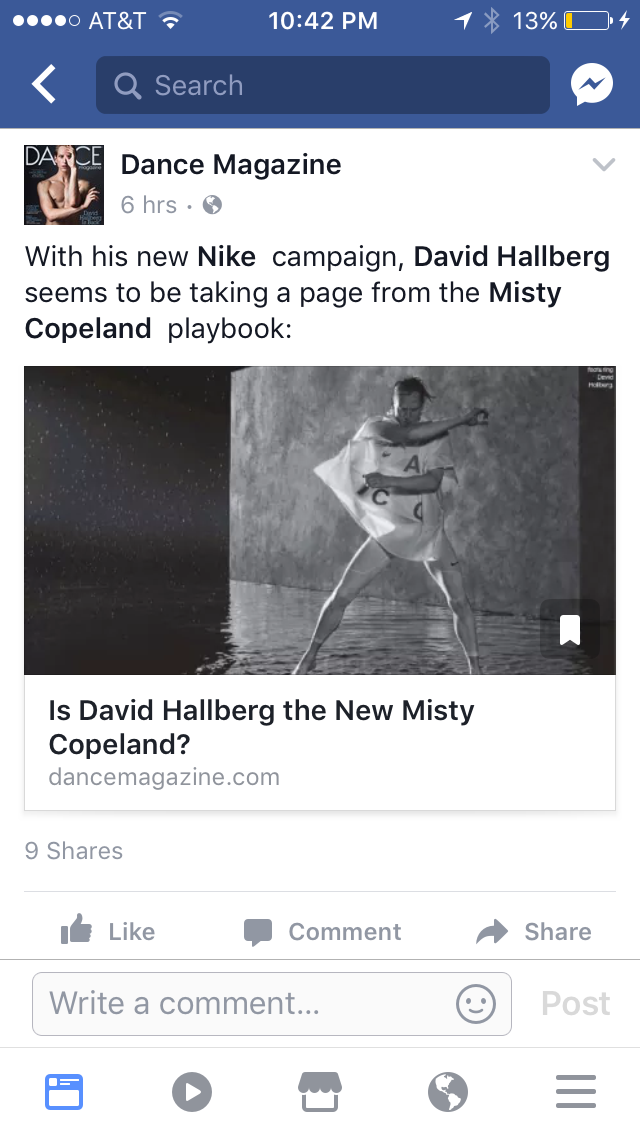 Dance Magazine calls David Hallberg the new MIsty Copeland