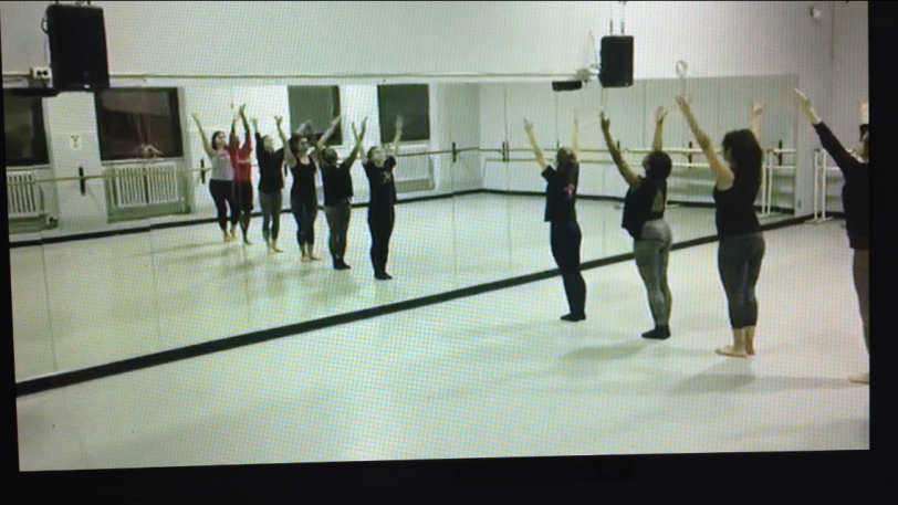 dancers in rehearsal